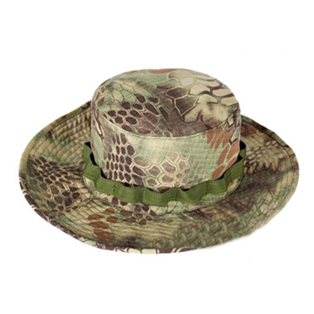Tactical Spec Caps Sports Climbing Hiking Bucket cap Python black Military Boonie Sun Hat