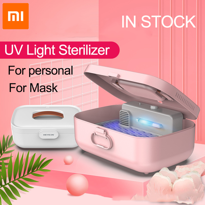 Xiaomi UV Sterilizer Box Cabinet Lamp Drying High Temperature Disinfection For Disposable Mask Glasses Earphone Phone Baby Item
