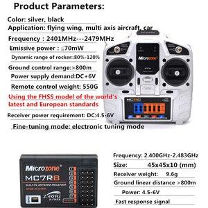 Image 3 - Microzone MC6C 2.4G 6CH Controller Zender Ontvanger Radio Systeem Voor Rc Vliegtuig Drone Multirotor Helicopter Auto Boot