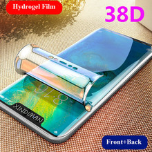 38D Front+Back hydrogel film for huawei mate20 mate20pro mate20X mate20lite screen protector mate10 mate10lite mate9