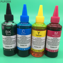 100ML Edible Food Ink For Epson Canon HP Brother Inkjet Printed Macarons Cookies Candies Lollipops Chocolates Icing Image Sheets