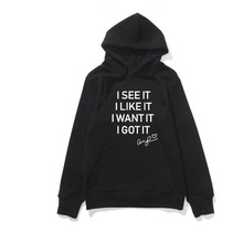 Woman Hoodie Letters Printed Sweatshirt Hooded Harajuku Seven Rings Ar