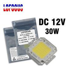 DC 12V Солнечный прожектор 10W 20W 30W 50W 100 W светодиодный COB чип теплый белый для 10 20 30 50 100 W уличные прожекторы