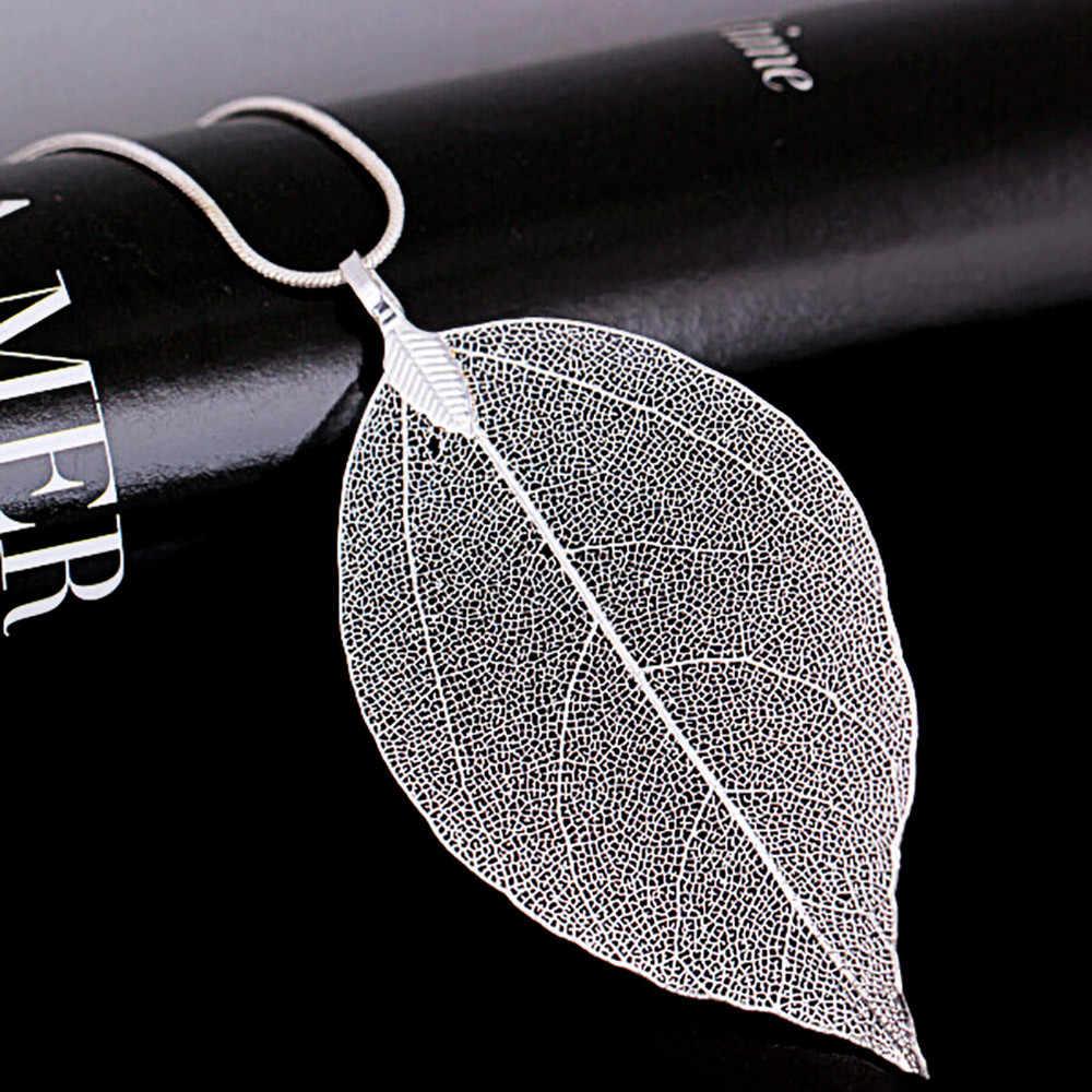 여자 특별 잎 잎 스웨터 펜던트 목걸이 숙녀 긴 체인 쥬얼리 클로버 골드와 실버 컬러 펜던트 목걸이 커플