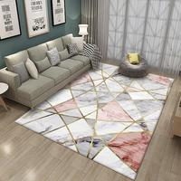 Yfashion Modern Simple Geometric Pattern Printing Carpet Floor Mat for Living Room Bedroom Sofa Kids Play