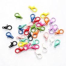30 pçs lagosta fecho gancho inoxidável colorido para colar pulseira diy jóias fazendo ganchos encerramento de corrente achados acessórios