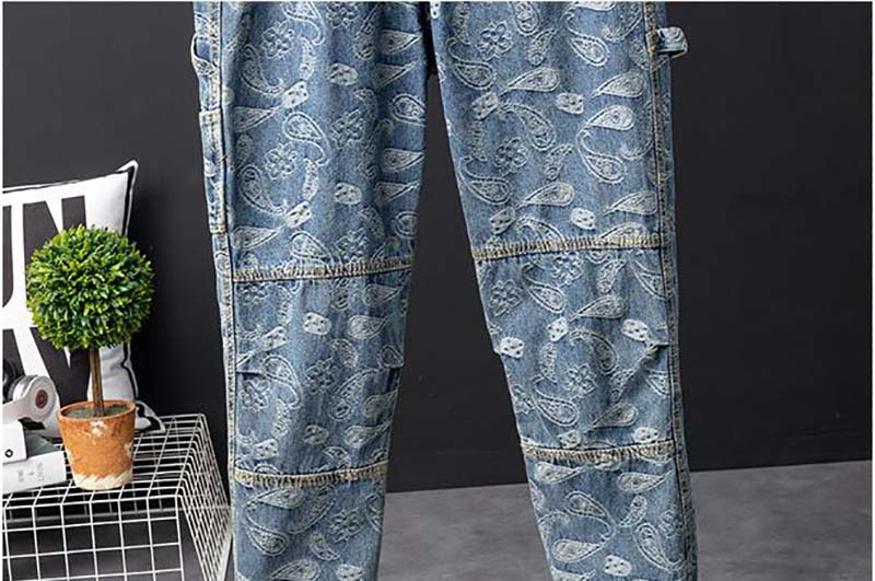 Mcikkny Men Hip Hop Printed Jeans Pants Fashion Loose Casual Denim Trousers Couples Streetwear Pants (3)