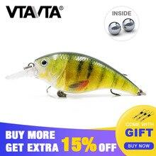 VTAVTA 1 PC Fishing Lure Crankbait Plastic lure Minnow Wobbler 8.3cm 16g hard bait Lifelike artificial tackle