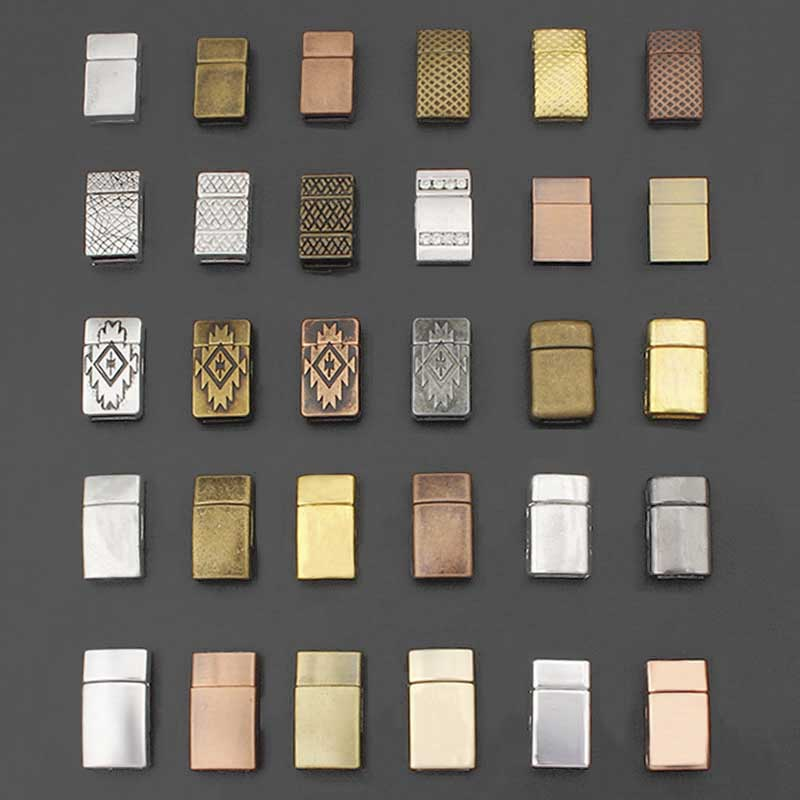 3Sets Fashion Jewelry Clasps Rectangle Strong Magnetic Clasp For 5mm 10mm Flat Leather Bracelet DIY Jewelry Findings Making