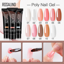 ROSALIND 15ml Poly for Gel Nail Extension Crystal Builder Nail Polish Semi Vernis Permanent UV LED Poly Vanish Gel Hybrid Polish