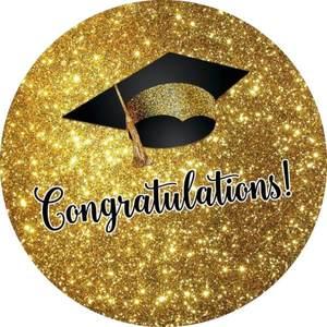 Image 3 - Funnytree fondo redondo con tapa de graduación para sesión fotográfica, papel tapiz de bebé, decoración para sesión fotográfica