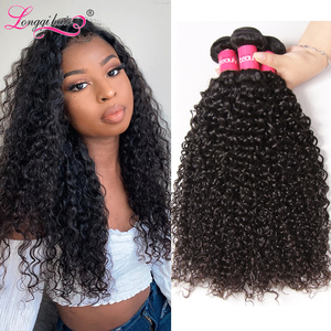 Image 1 - Longqi שיער קמבודי מתולתל שיער חבילות 1 3 4 חבילות ג רי תלתל שיער טבעי חבילות רמי שיער Weave חבילות 8   26 אינץ