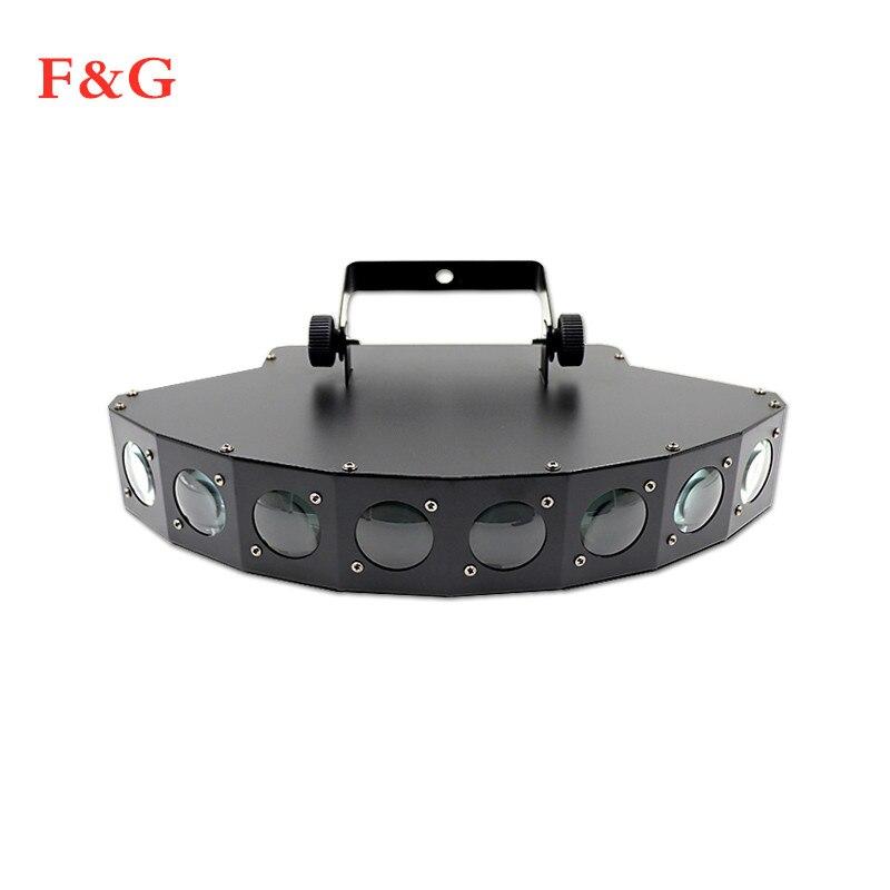 Hoge Helderheid Acht-beam Scanner Fan Beam Bar Lichtstraal Laser RGBW Scanner Dj Club Disco Light Acht Ogen LED Beam Lamp