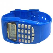 Fashion Digital Calculator With Watch Function Casual Silicone Sports For Kids Children Multifunction Calculating