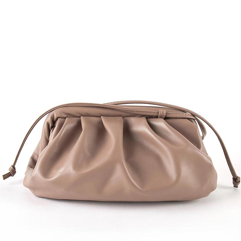 Luxury Designer New Cloud Shape Women Day Clutch Bag Pleated Dumpling Shoulder Messenger Bag Small Cute Lady Crossbody Cloud Bag