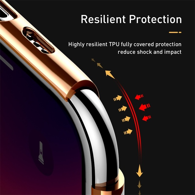 Baseus iPhone 11 Pro Max Luxury Plating Silicone Protective Back Case Cover