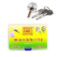 Free Shipping Honest 3pcs Cross Lock Tool Set 6.0mm,6.5mm,7.0mm Pick with Cross Transparent Practice Lock,Locksmith Tools