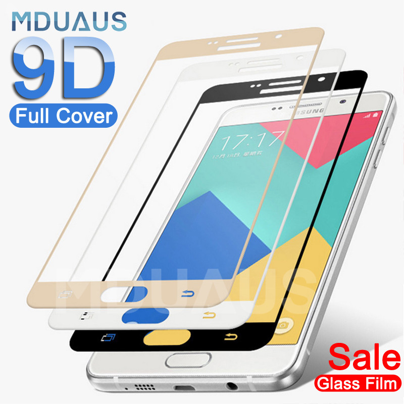 9D Full Cover Tempered Glass On The For Samsung Galaxy A3 A5 A7 J3 J5 J7 2016 2017 S7 Screen Protector Protective Glass Film