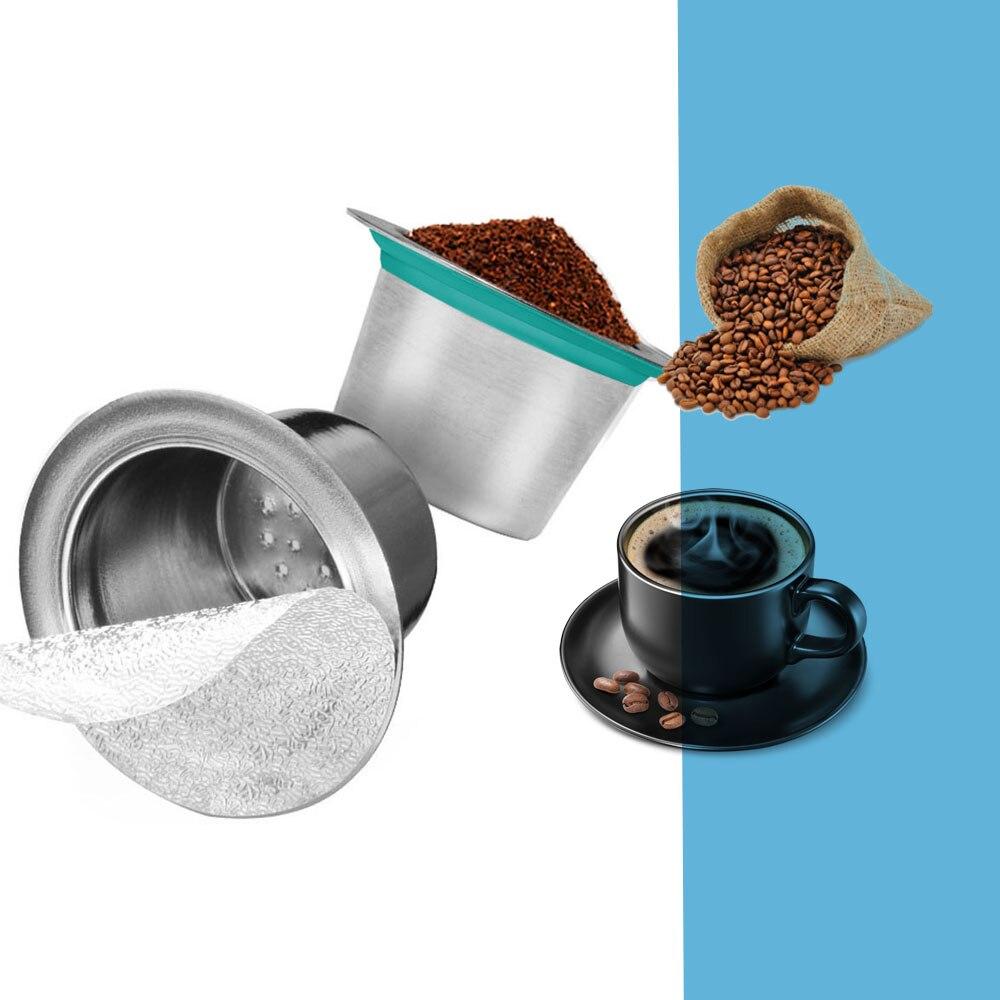 24PCS Nespresso תרמילי קפה נירוסטה Refillable Capsulas Nesspreso לשימוש חוזר קפה מסנן כוס חדש DIY קפה יצרנית כלים