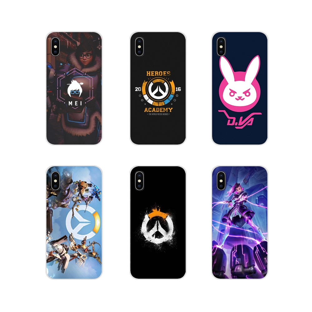 For Apple iPhone X XR XS 11Pro MAX 4S 5S 5C SE 6S 7 8 Plus ipod touch 5 6 Overwatch ow Game Accessories Phone Cases Covers image