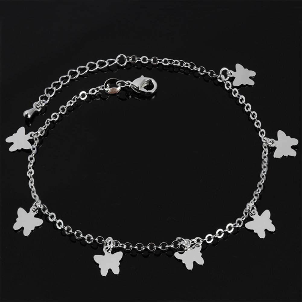Butterfly Ankle Bracelet for Women Gold Silver Color Feet Bracelets Boho Handmade Foot Jewelry Girl Chain Anklets