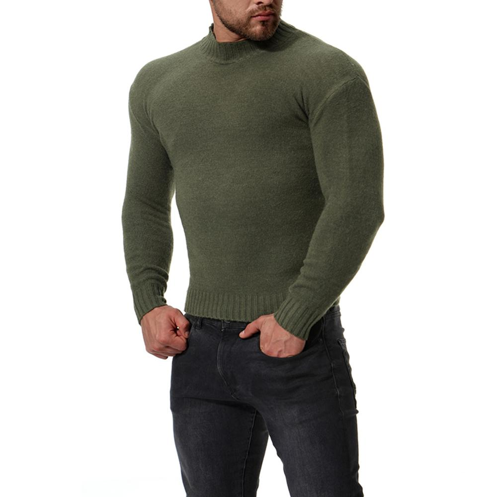 2020 New Sweater Men'S Solid Color Casual Male Sweater