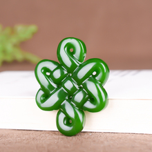 Pendant Necklace Charm Jewelry Jadeite Natural Chinese Green Carved Fashion And Hollow