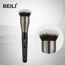 Beili 1 peça pincéis de maquiagem cabelo sintético em pó fundação highlighter blush rosto escova de maquiagem profissional