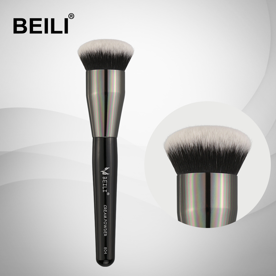 BEILI 1 Piece Synthetic Hair Cream Powder Foundation Long Handle Single Makeup Brushes 804#