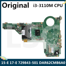 CPU Laptop Motherboard 729843-501 for HP 15-E/17-E DAR62CMB6A0 with SR0N2 I3-3110m/Cpu/2.4ghz