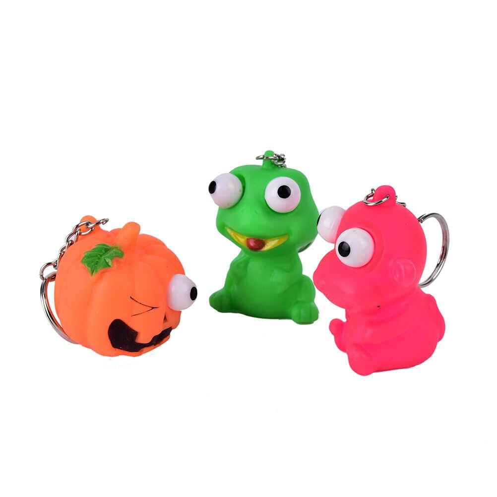 น่ารักสัตว์ความเครียดบรรเทาของเล่นพวงกุญแจล้อเล่น Decompression ขนาดเล็ก Squeeze ของเล่น Pop Out ตุ๊กตา Novelty Venting Key Chain แหวน