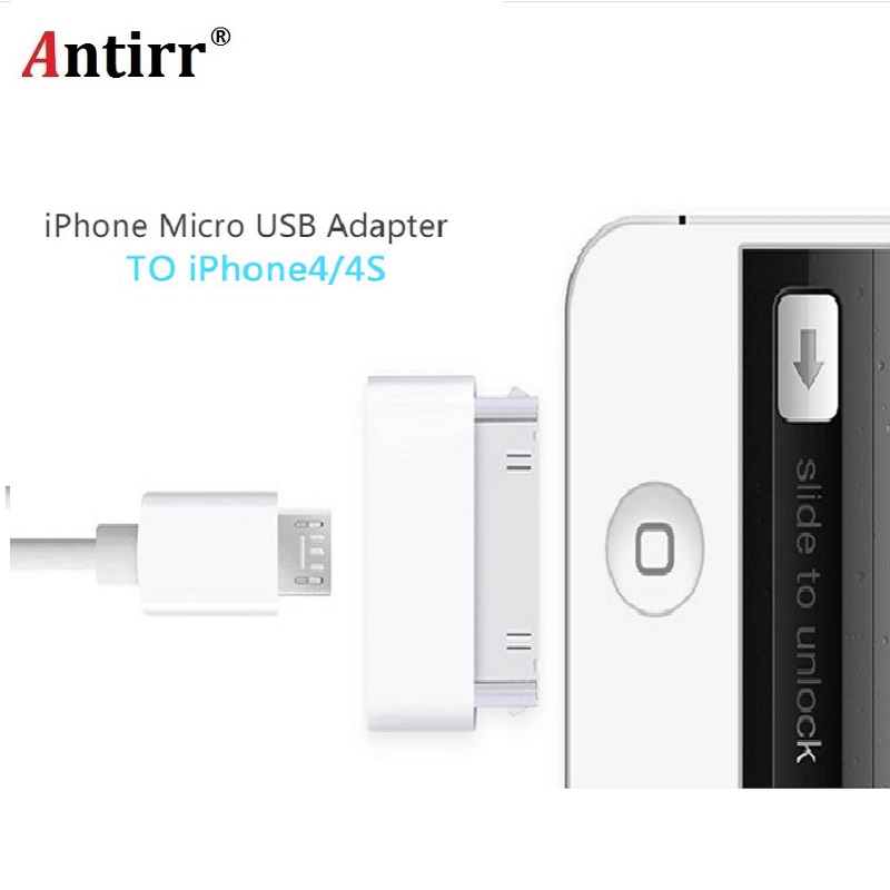 Micro USB Charger Adapter USB Cable Head For Apple 4 4s Ipad 1 2 3 Ipod Itouch Change Cable For Android To For IPhone