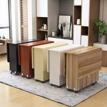 Novo criativo de madeira maciça dobrável móveis mesa jantar sala estar cozinha material armazenamento móveis para casa frete grátis