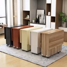 ¡Nuevo! Mesa de salón de comedor plegable creativa de madera maciza, almacenamiento de material de cocina, muebles para el hogar, envío gratis
