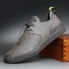 Fashion Men Flats Vulcanized Shoes Zapatos De Hombre Black Zapatillas Men Casual