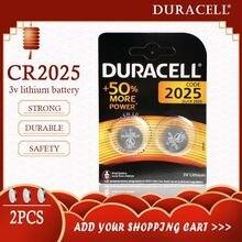 2 pièces d'origine pour DURACELL CR2025 pile bouton 3V Batteries au Lithium pour montre jouet ordinateur calculatrice contrôle DLCR 2025