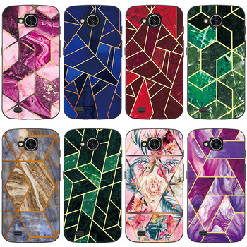 Geometric Marble Soft Phone Case for LG X Venture / X Calibur / V9 H700 Funda Glossy Colorful Flower Silicone Phone Back Cover image