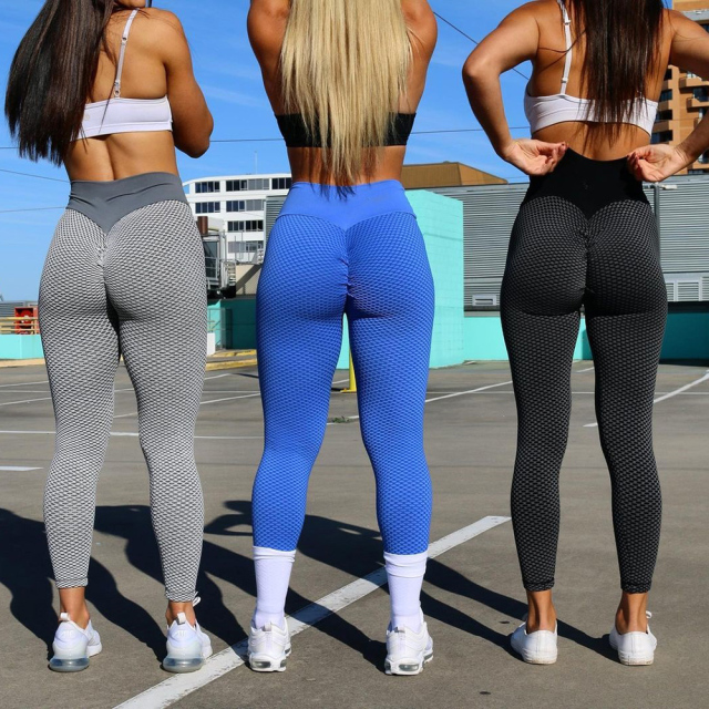 KIWI RATA High Waist Yoga Pants Scrunched Booty Leggings for Women Anti Cellulite Workout Running Butt Lift Tights 3