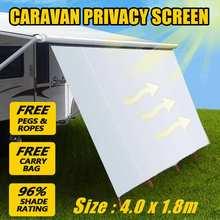 4x1,8 м тент водонепроницаемый тент Сверхлегкий тент солнцезащитный тент наружный тент для кемпинга для автомобиля Caravan MPV Trucks Hatchbacks