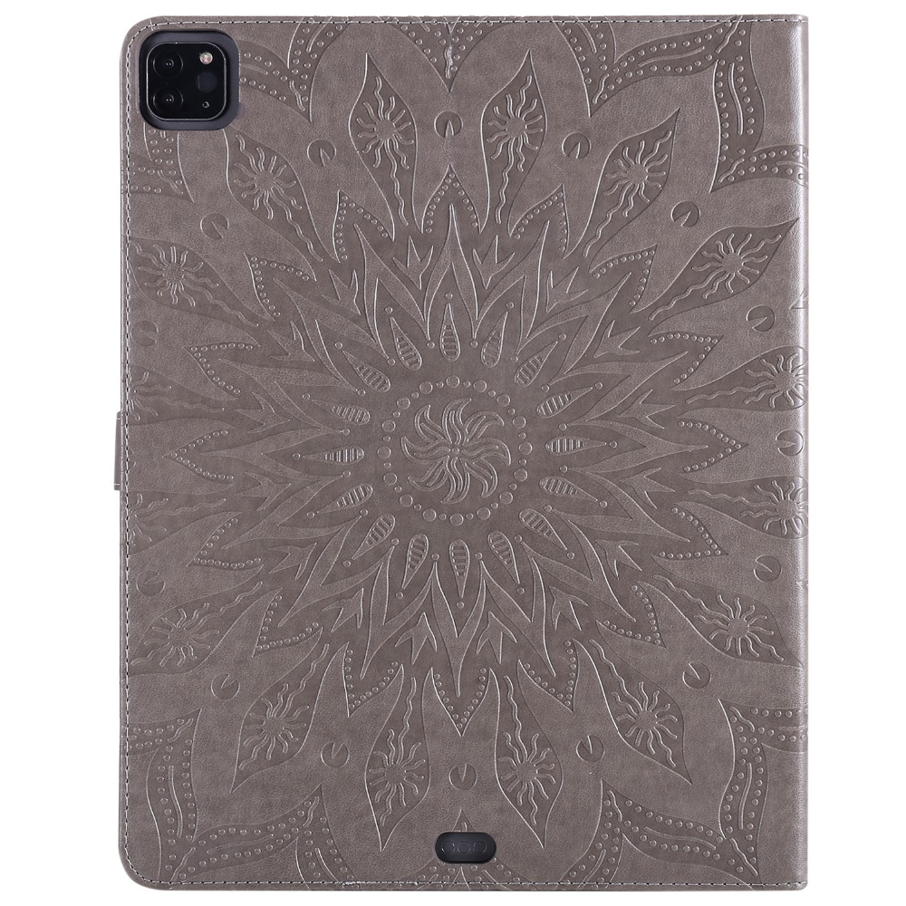 Leather Shell Embossed 9 Skin 3D Flower 2020 Pro Case Protective iPad 12 for Cover
