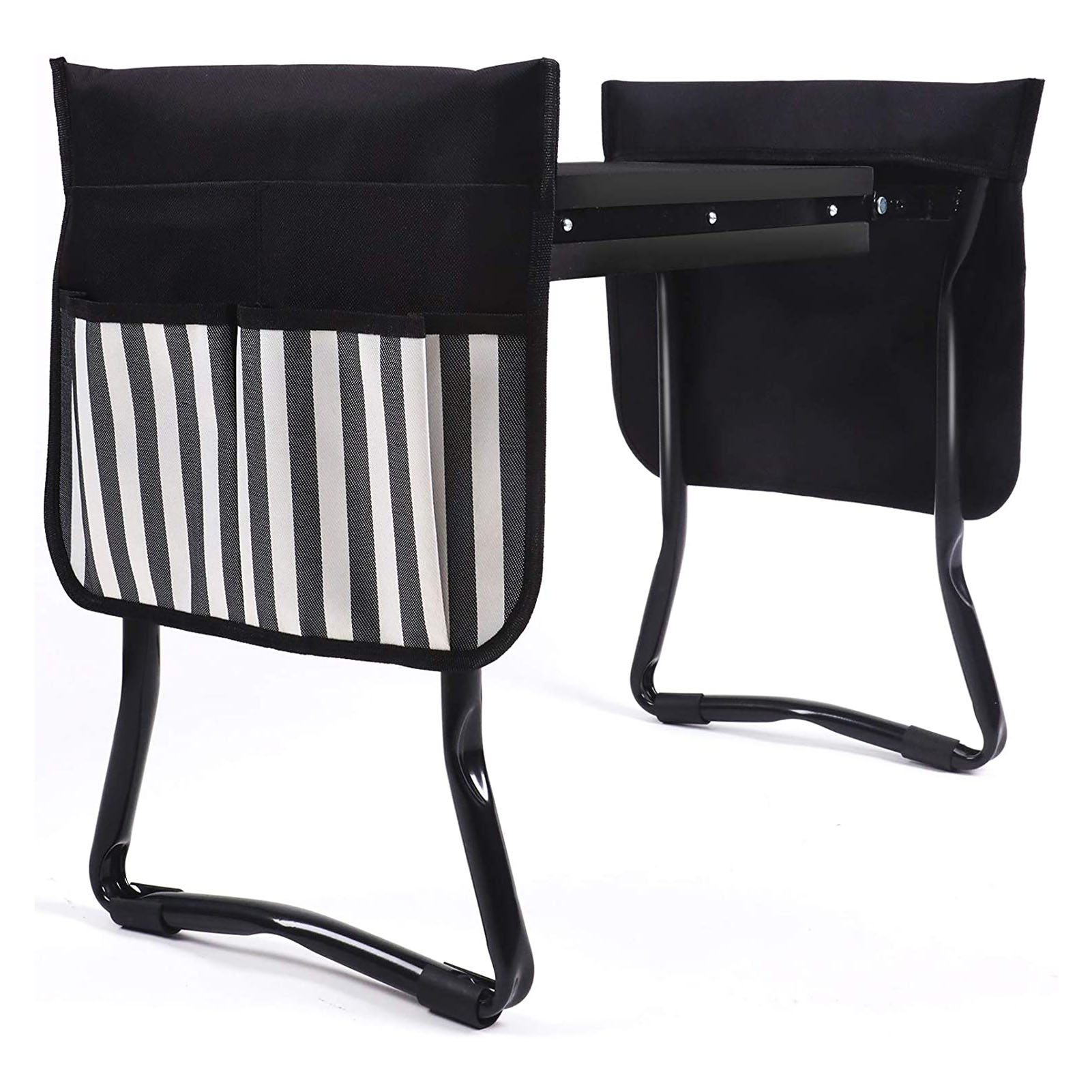 Garden Folding Stainless Kneeler Multi-Functional Seat Removable with 2 Tool Bags EVA Kneeling Pad Gardening Gifts