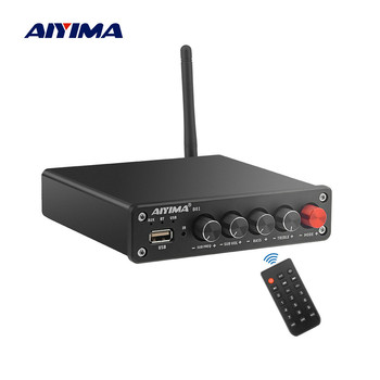 AIYIMA Bluetooth 5.0 Subwoofer Bluetooth Amplifiers TPA3116 Stereo Digital 2.1 Sound Amplifier Audio Amp USB Player 50Wx2+100W aiyima aptx qcc3008 bluetooth 5 0 amplificador audio amp tpa3116 hifi power amplifier 50wx2 100w 2 1 channel subwoofer amplifier
