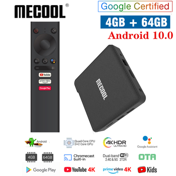 MECOOL NEW KM1 Android 10.0 TV Box 4GB RAM 64GB ROM Amlogic S905X3 2.4G/5G WiFi 4K BT4.2 Voice Control Google Certified TV box