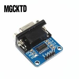 Image 3 - Megmoki 100pcs MAX3232 RS232 para Módulo Conversor TTL Porta Serial Conector DB9 MAX232