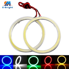 6Pcs 12V COB Angel Eyes with Cover Led Halo Rings 60mm 70mm 80mm 90mm 100mm 110mm 120mm White Blue Amber Red Green Headlight