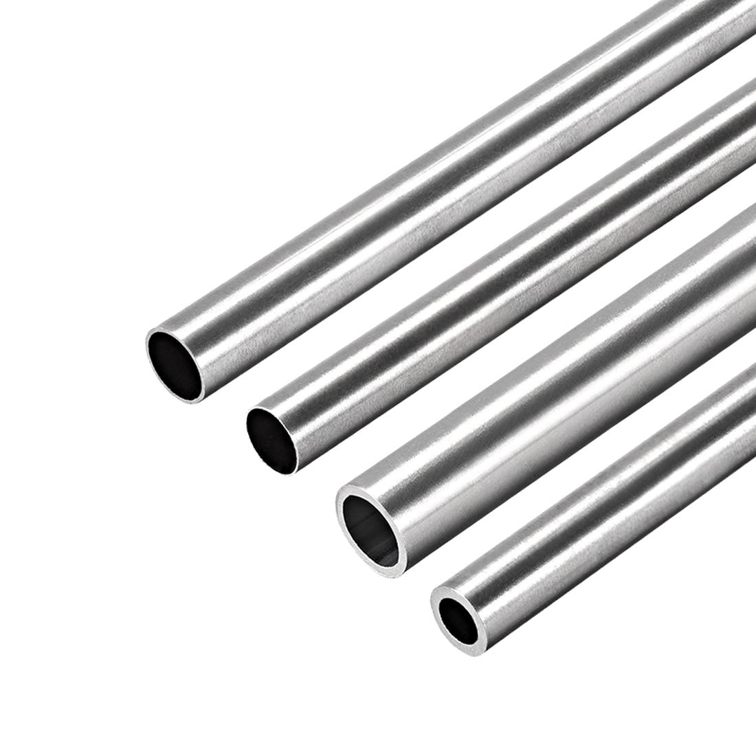 Tubulação redonda de aço inoxidável 6mm-10mm od 304mm do comprimento de uxcell 1pc 250 tubo reto sem emenda da tubulação