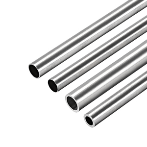 uxcell 1pc 304 Stainless Steel Round Tubing 6mm-10mm OD 250mm Length Seamless Straight Pipe Tube