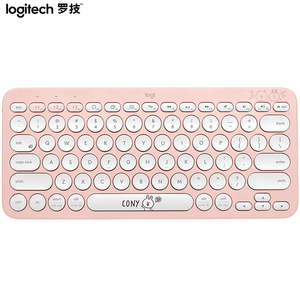 Image 4 - Logitech K380 Multi Device Bluetooth Wireless Keyboard Line Friends Pink Black Multi Colors Windows MacOS Android IOS Chrome OS