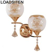 Decoração da lâmpada do vintage coiffeuse avec miroir apliques murale aplique luz pared wandlamp luminária de cristal parede quarto luz|Luminárias de parede|   -