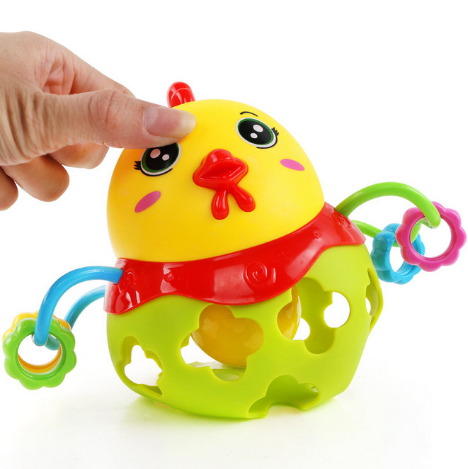 Baby Hand Ball Buckle Hole Pull Hole Toy Infant Grip Ball Learn To Climb  Glue Ball Rattles Display Box